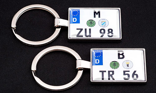 two motorcycle keychains