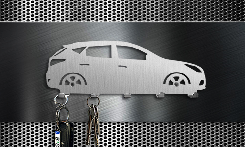 Keyboard car silhouettes white with keys