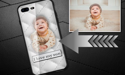 Personalized mobile case white leather
