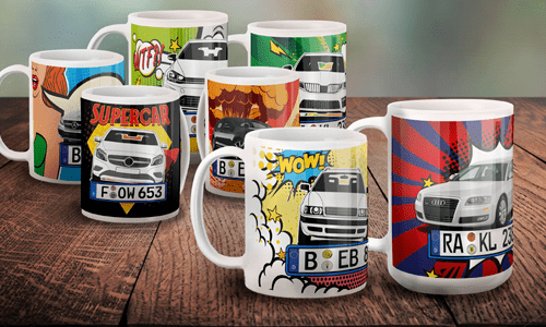 Car Comic Mugs