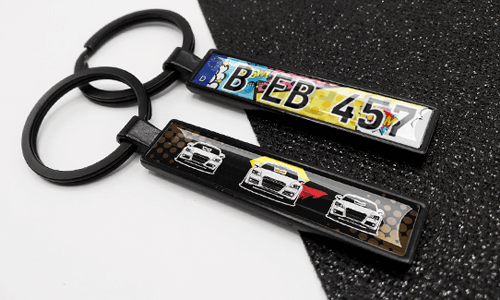 Comic Black Keychain