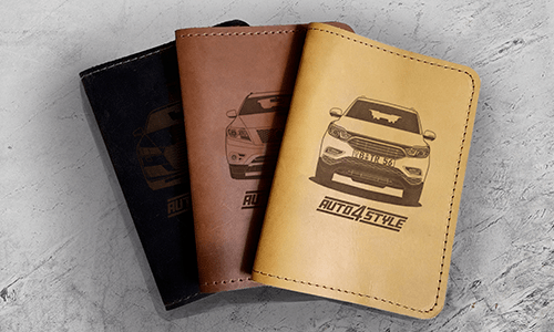 Real Leather Car Documents Holder