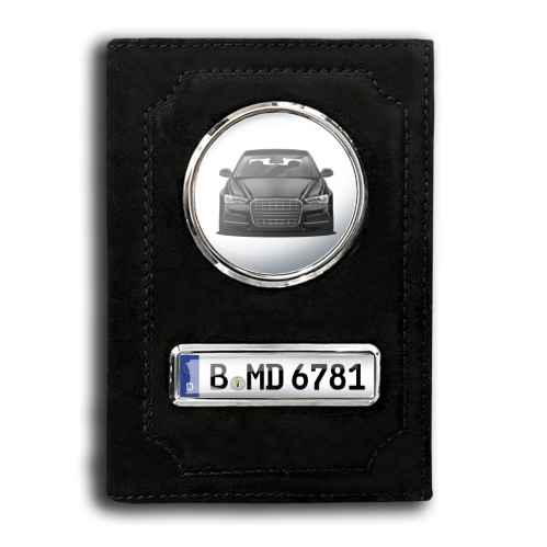 Car Documents Holder - Black Velvet