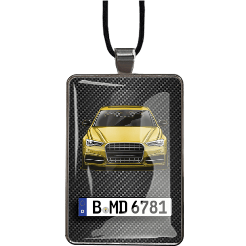 Car mirror chain - rectangle